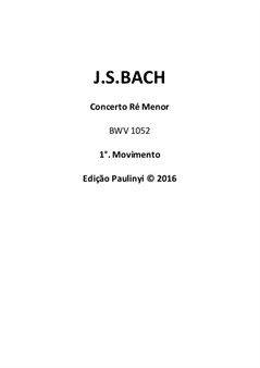 Concerto D minor - violin solo complete part for performance