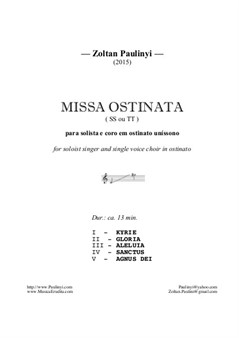 Missa Ostinata for 2 equal voices (2015)