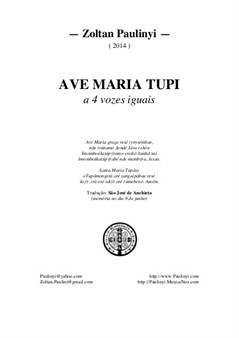 Ave Maria Tupi for 4 equal voices