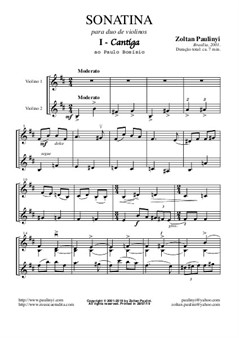 Sonatina for 2 violins (full score and parts) revised edition for A4 size